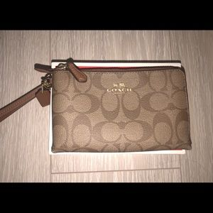 Coach Monogram Wristlet - Double Zipper